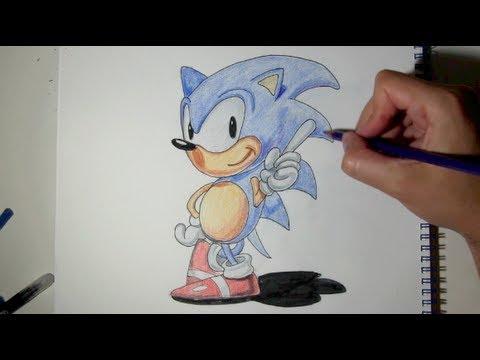 Cómo Dibujar A Sonic Paso A Paso Con Lápices