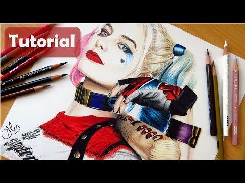 Cómo Dibujar A Harley Quinn (suicide Squad)