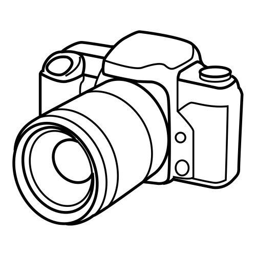 Camara Fotografica Para Dibujar