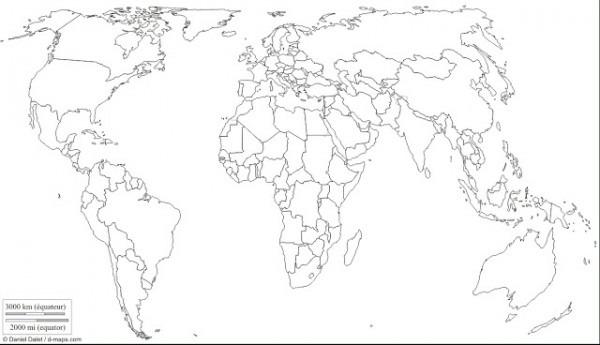 Imagenes De Mapa Del Mundo Para Colorear