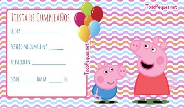 Invitaciones De George Y Peppa Pig Cumpleanos