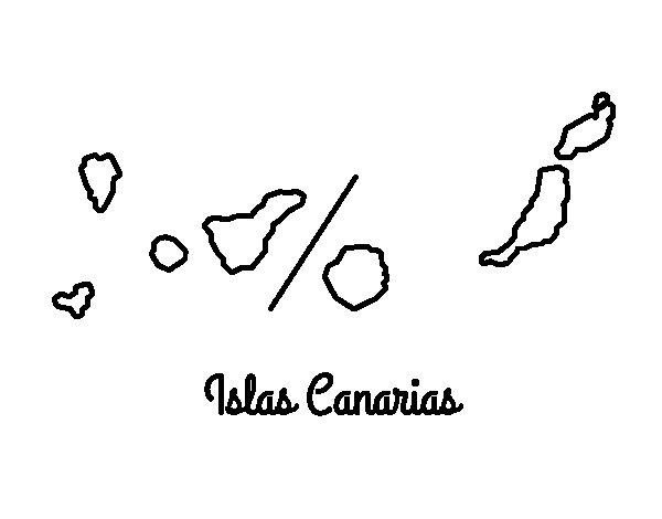 √ Dibujo De Islas Canarias Para Colorear