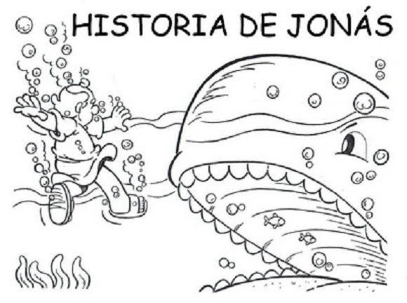 Historia Bíblica De Jonás Para Colorear ~ Recursos Para La Escuela