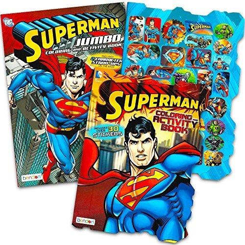 Juego De Colorear Superman Para Colorear Con Pegatinas 2 Lib