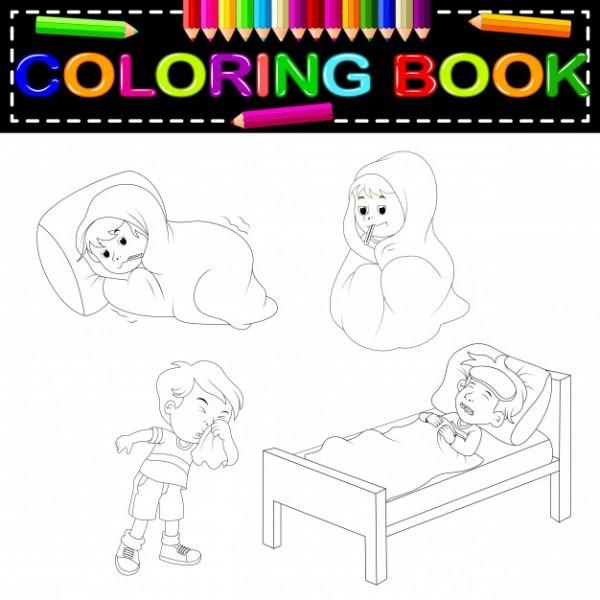 Libro Para Colorear De Niños Enfermos