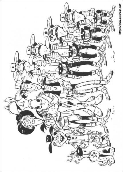 Dibujos Para Colorear De Lucky Luke
