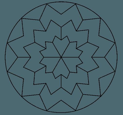 Dibujo De Mandala 29 Para Colorear