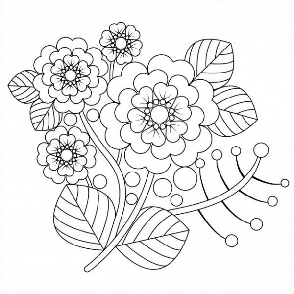 Mandala De Flores Para Adultos Relajante Libro Para Colorear