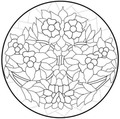 Dibujo De Mandala Con Flores Para Colorear
