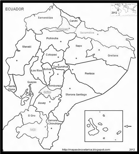 Mapa De Ecuador Para Colorear