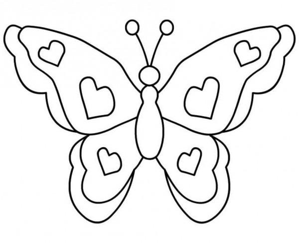 Dibujos Para Colorear Imágenes De Mariposas Y Flores Hermosas