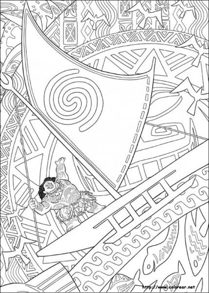 Dibujos De Vaiana Para Colorear En Colorear Net