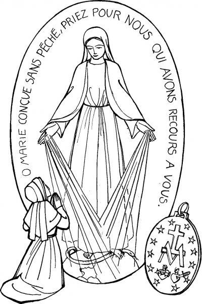 Diferentes Dibujos De La Virgen De La Medalla Milagrosa