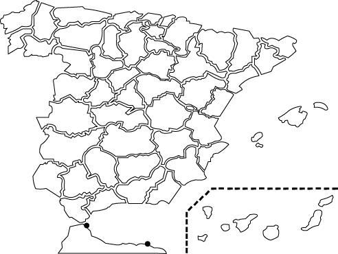 Mapa España Provincias