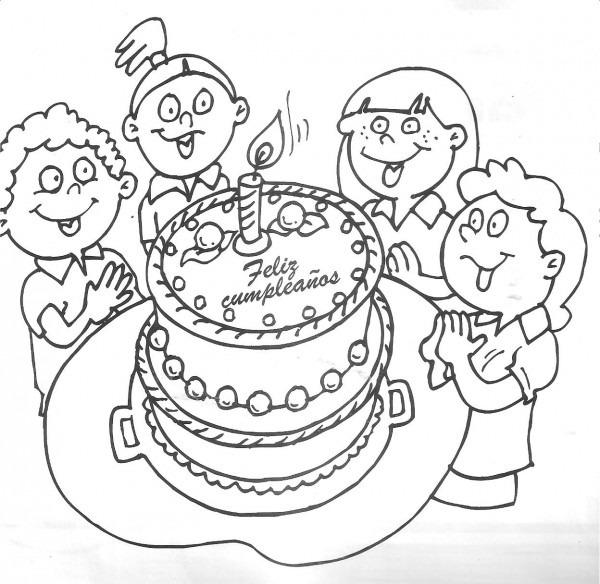 Divertidos Dibujos De Cumpleaños Para Descargar Y Pintar