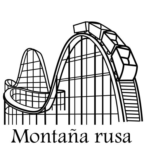 Montaña Rusa Para Colorear