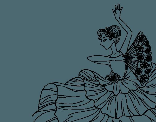 Dibujo De Mujer Flamenca Para Colorear