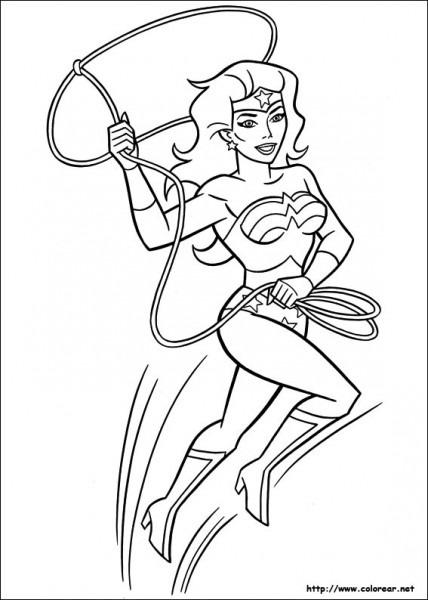 Dibujos Para Colorear De Mujer Maravilla