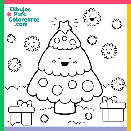 Dibujos De árbol De Navidad Para Colorear Online O Imprimir