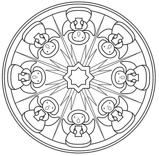 Mandalas Navideños  Diseños Para Niños Y Para Colorear En Navidad