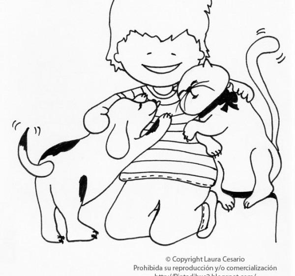 Dibujos Para Imprimir Y Colorear  Dibujo De Un Niño Jugando Con Un