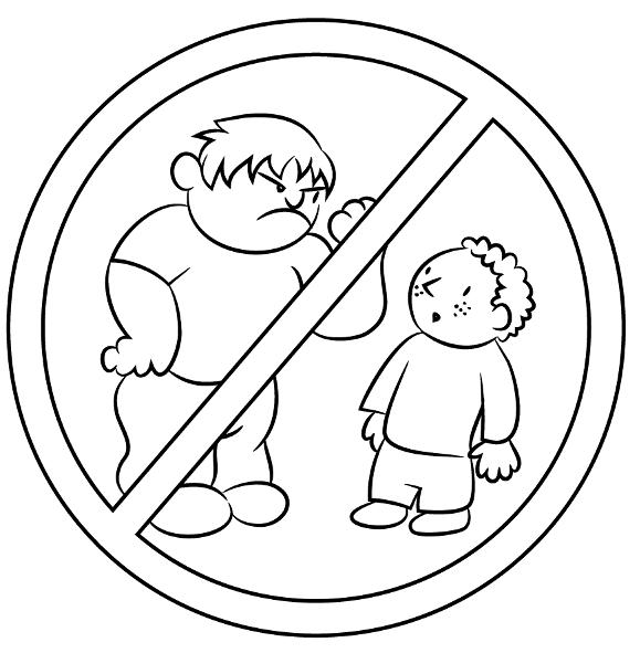 √ Dibujos Sobre El Bullying Para Colorear