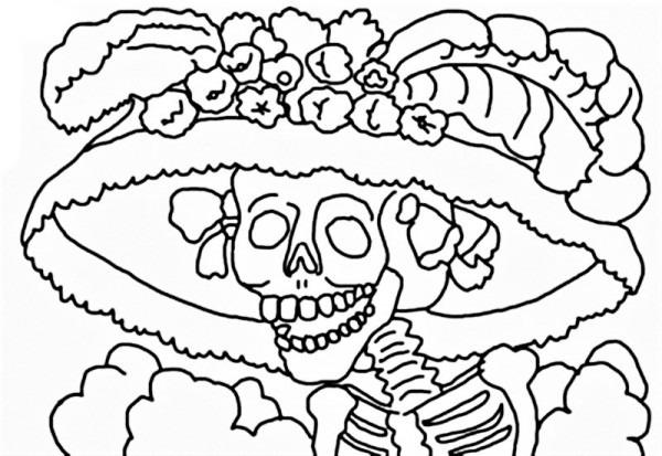 Dibujos Del Día De Los Muertos Para Imprimir Y Colorear