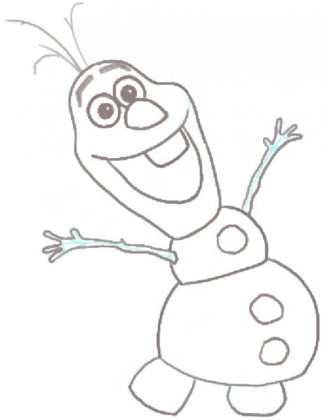 Divertidos Dibujos De Olaf Para Pintar
