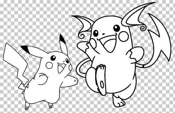 Pikachu Raichu Libro Para Colorear Pokémon Ir Pichu, Pikachu Png