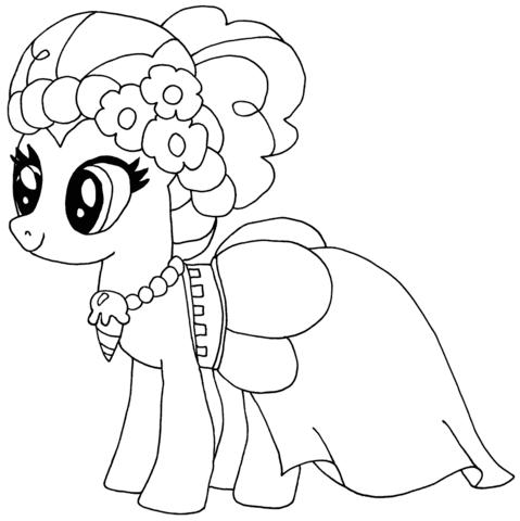 Dibujo De Pinkie Pie Para Colorear