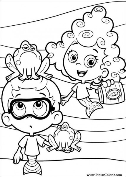 Drawings To Paint & Colour Bubble Guppies