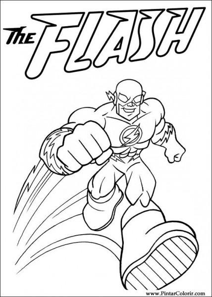 Dibujos Para Pintar Y Color Dc Comics