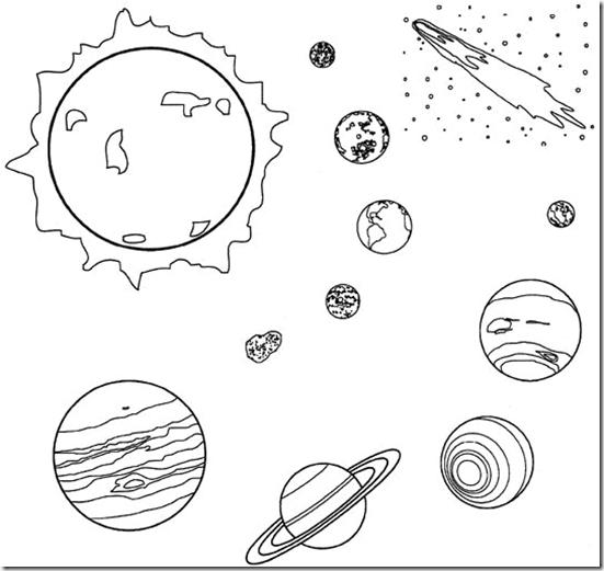 Planetas Del Universo Para Colorear
