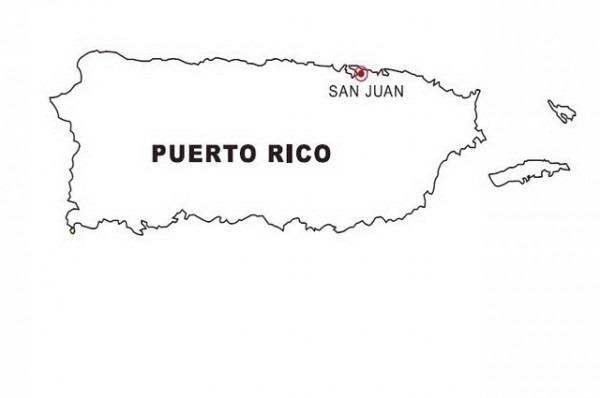 Mapa De Puerto Rico Para Colorear