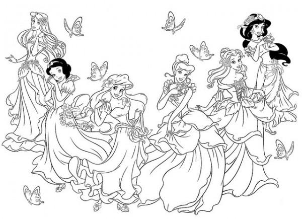 Dibujos De Todas Las Princesas De Disney Para Colorear Las Nenas