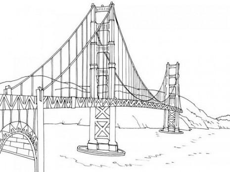 Dibujos De Puentes Para Colorear