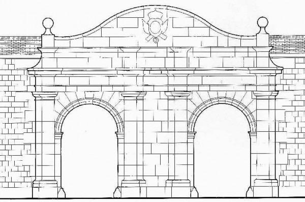 Puertas Para Dibujar Murallas De Cartagena Carlos Iii Frente Este