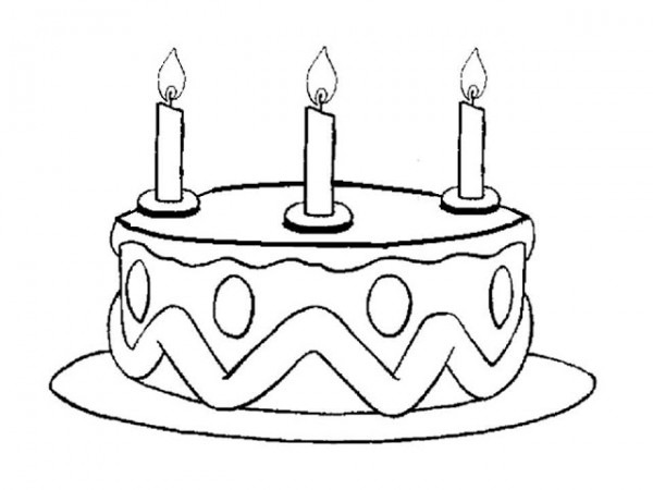 Pastel De Cumpleaños Para Colorear E Imprimir