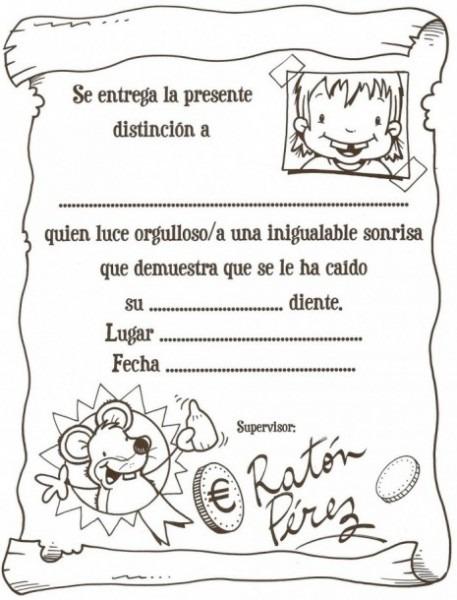 Actividades  El Ratoncito Pérez