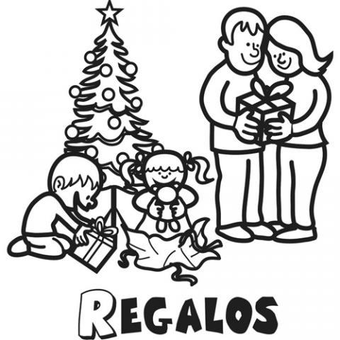 Cena De Navidad Para Colorear