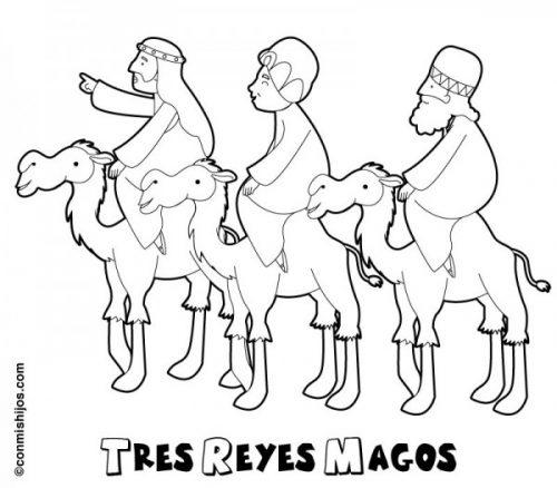 Dibujos De Melchor, Gaspar Y Baltasar Para Colorear  Tres Reyes