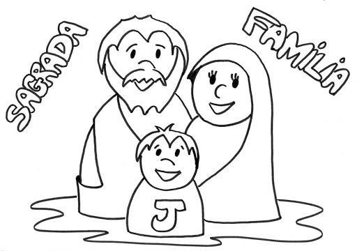 Me Gusta La Clase De Religión  Colorear Sagrada Familia