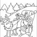 Trineo Santa Claus Para Colorear
