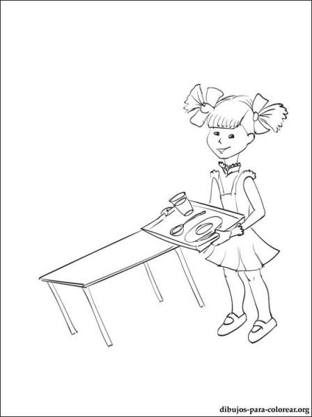 Dibujo De Comedor Escolar Para Colorear