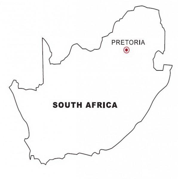 Mapa De Sudáfrica Para Colorear