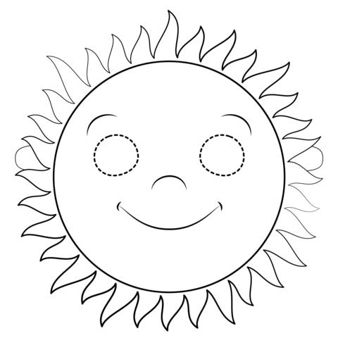 Dibujo De Máscara De Sol Para Colorear