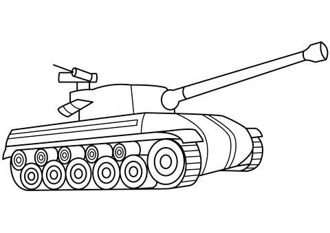 Dibujo De Tanque De Guerra Para Colorear