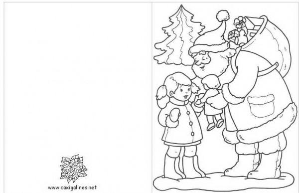 5 Postales De Navidad Para Colorear
