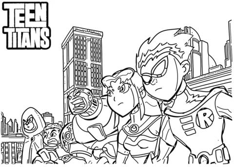 Dibujo De Los Titanes Para Colorear