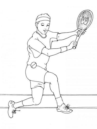 Dibujo De Tenis  Dibujo Para Colorear De Tenis  Dibujos Infantiles